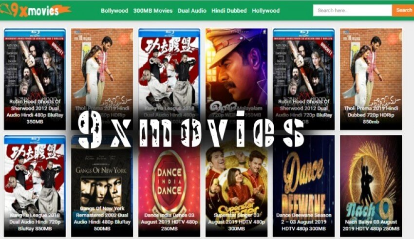 9xmovies 2020 : 300MB Movies Download Dubbed in Hindi