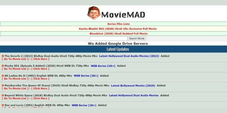 Moviemad: Website Bollywood Movies illegal Download